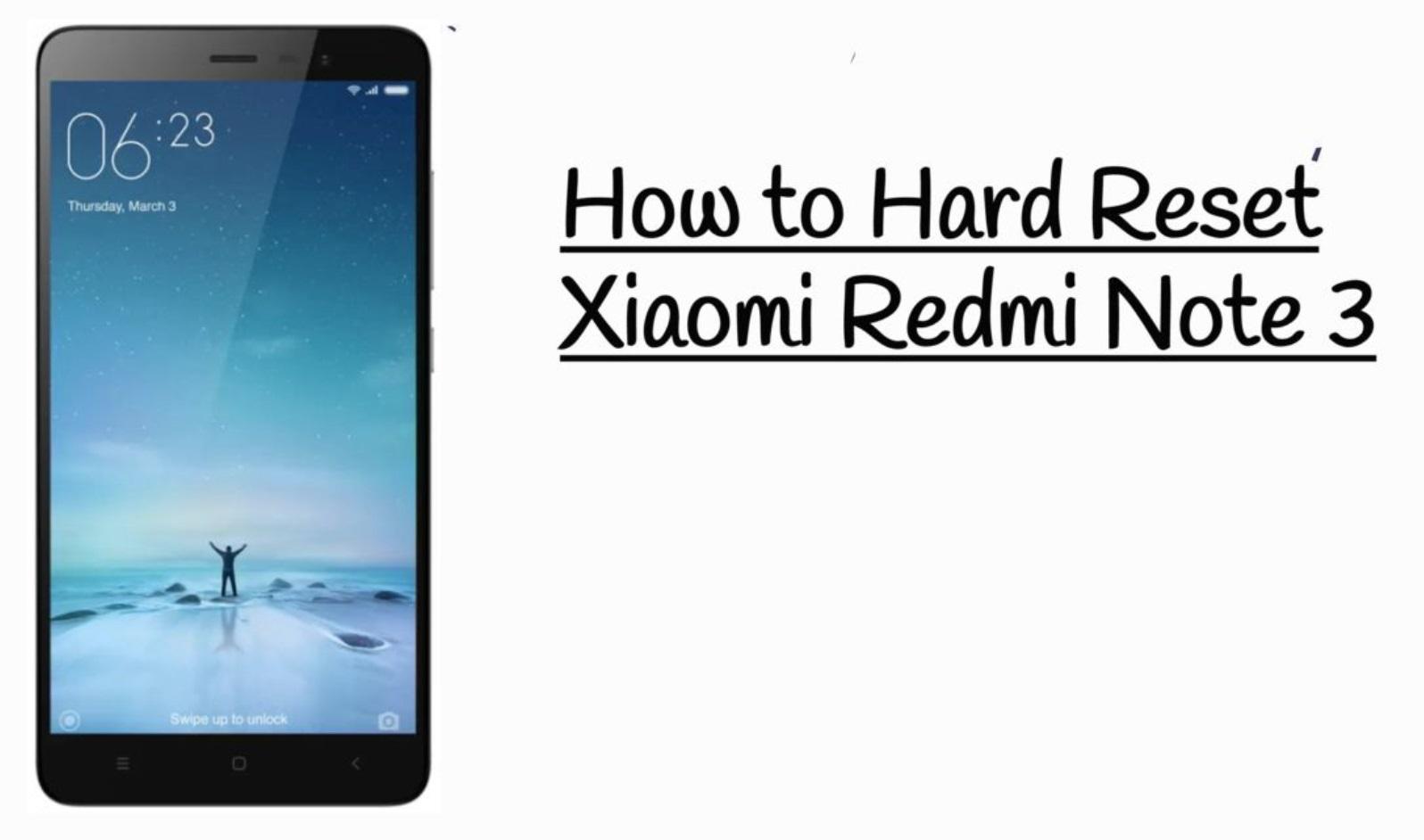 Хард ресет Xiaomi Redmi Note 4