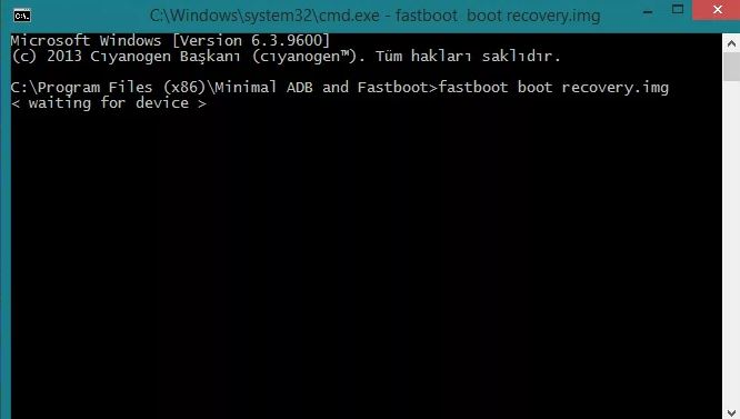 fastboot boot recovery.img