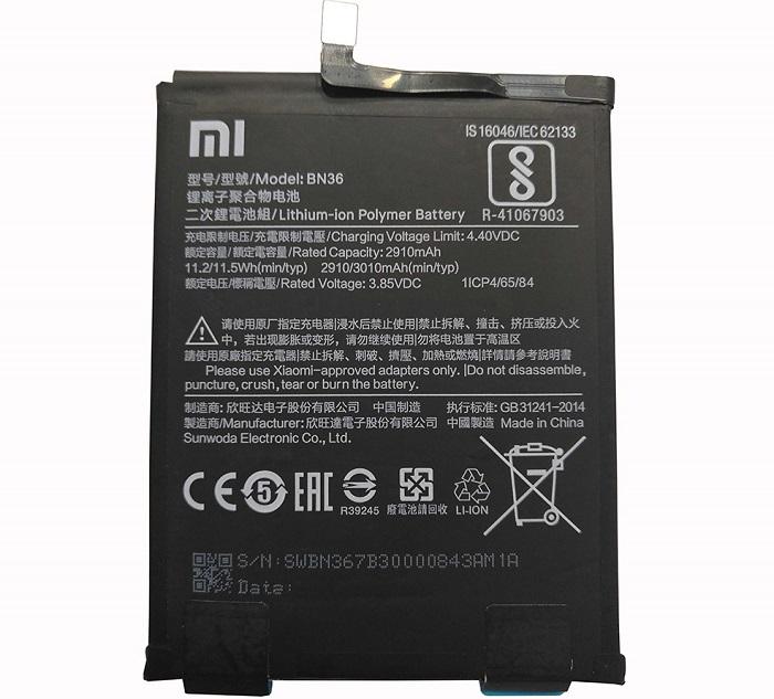 Оригинальный аккумулятор BN36 для Xiaomi Mi 6X