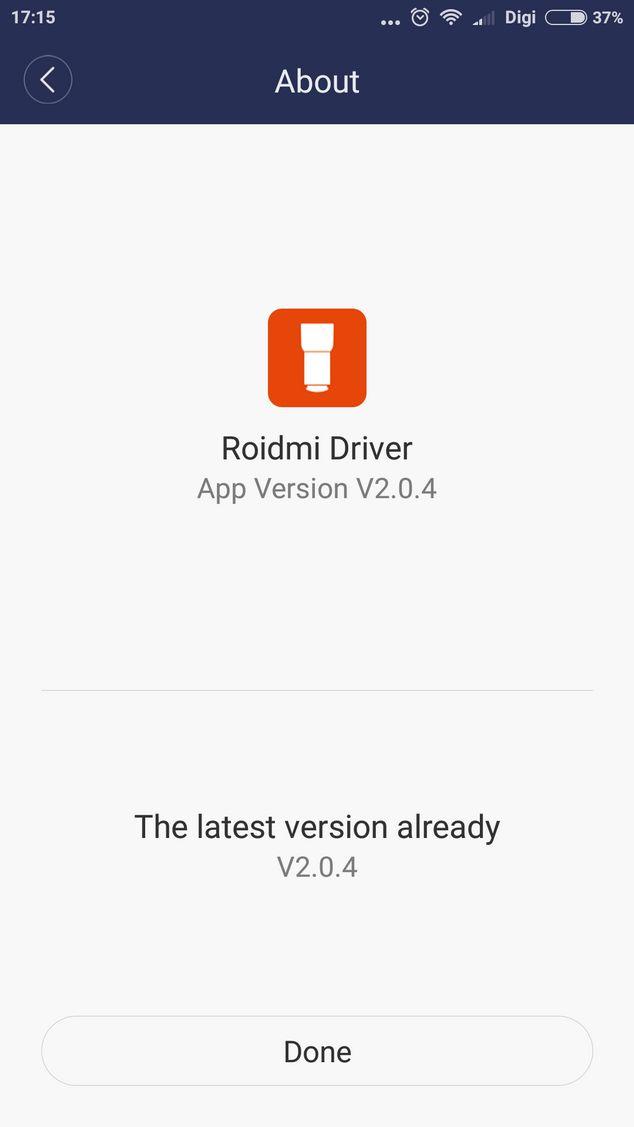 Приложение Roidmi Driver
