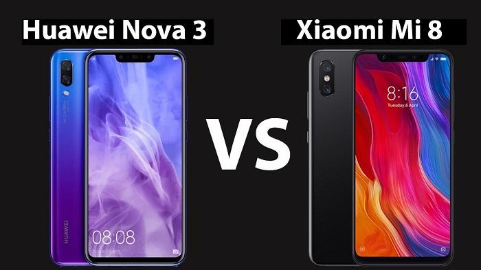 Сравнение Xiaomi Mi 8 и Huawei Nova 3