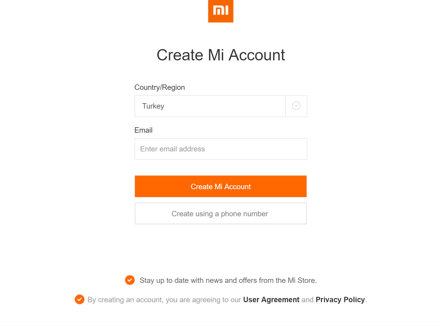 Stay up to date with news and offers from the Mi Store.