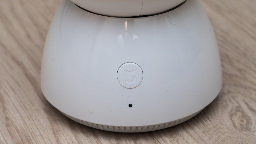 В передней части расположена кнопка с логотипом Mijia