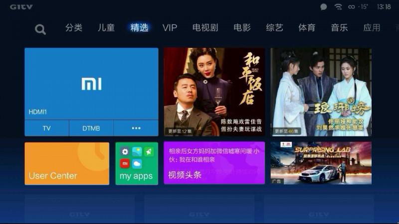 Телевизор изначально на китайском языке