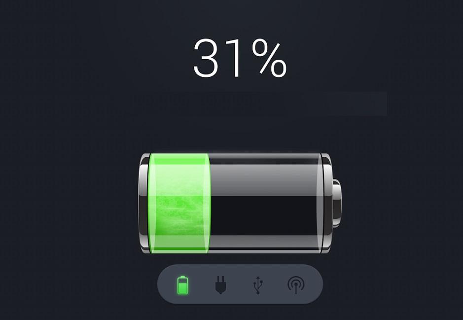 Оптимальный процент заряда для хранения батареи - 30-50%