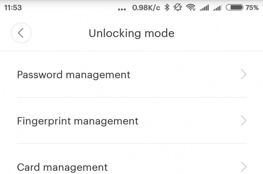 Unlocking mode