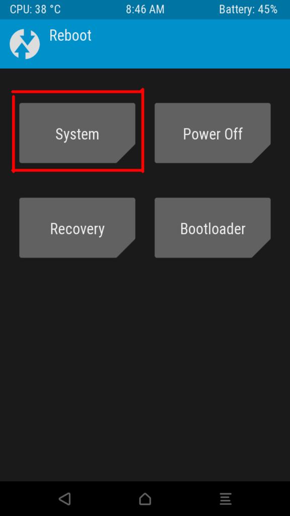 Reboot и System