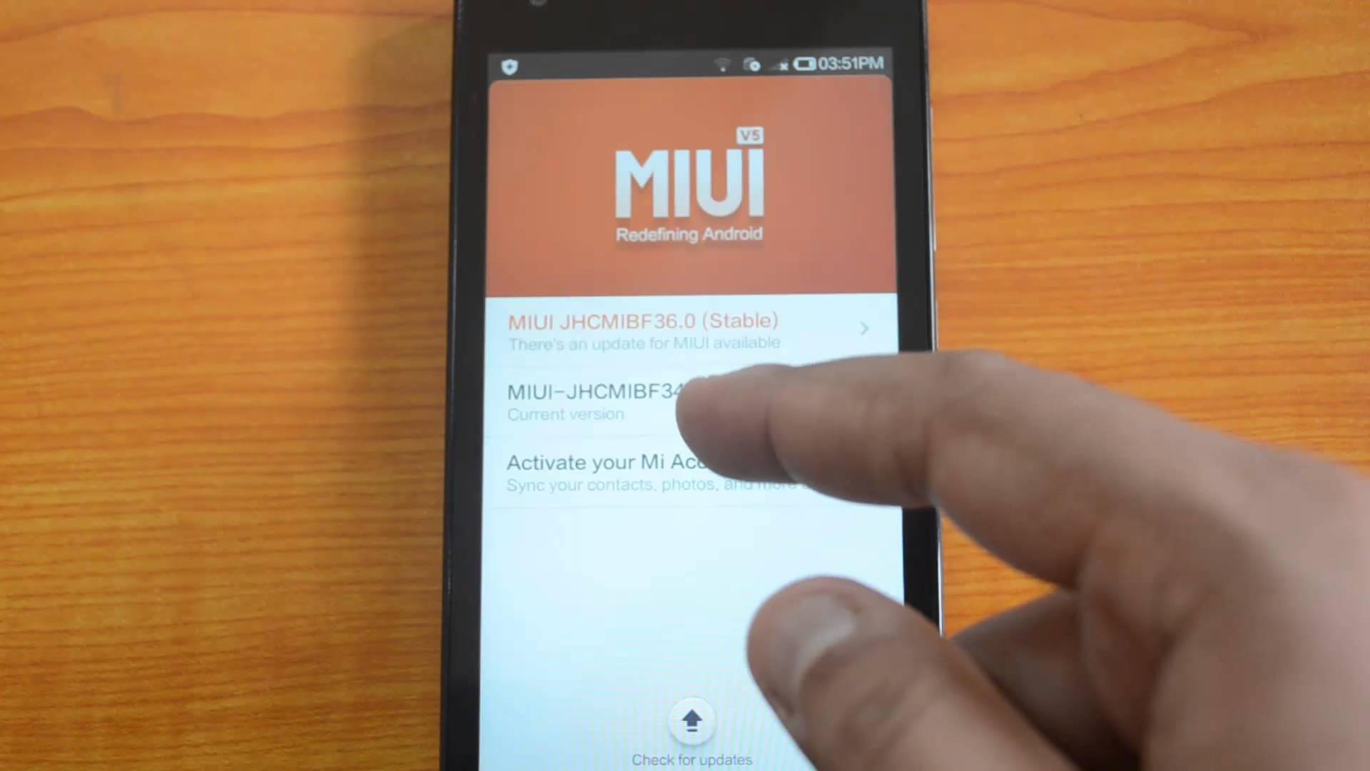 Обновление MIUI